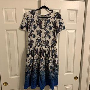Dip-Dyed LulaRoe Amelia Dress size XL